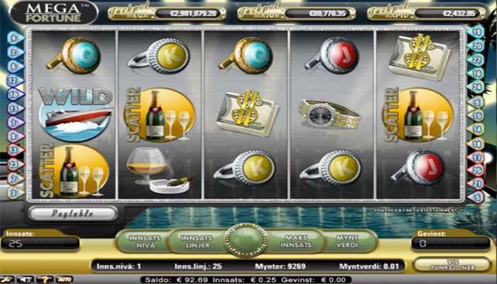 Mega Fortune spilleautomater